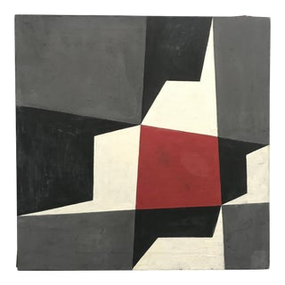1960s Geometric Abstract Painting by Federico Delgado Montiel For Sale