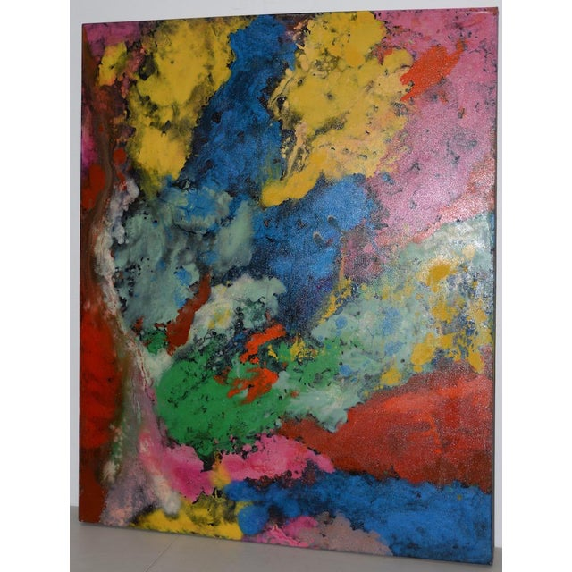21st C. Modernist Abstract Oil Painting by Manor Shadian (B.1931 Iran / California) For Sale - Image 12 of 12