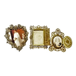 Victorian Gothic Revival Table Top Frames - Set of 3 For Sale