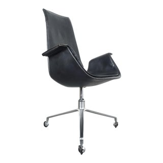 Black Blue High Back Bird Desk Chair by Fabricius and Kastholm Fk 6725, 1964