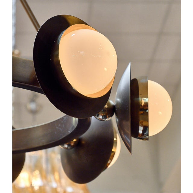Early 21st Century Murano Glass and Bronze Chandelier For Sale - Image 5 of 9