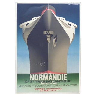 French Normandie Inaugural Poster For Sale