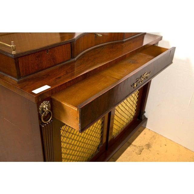 Regency Style Rosewood Serving Cabinet - Image 7 of 8