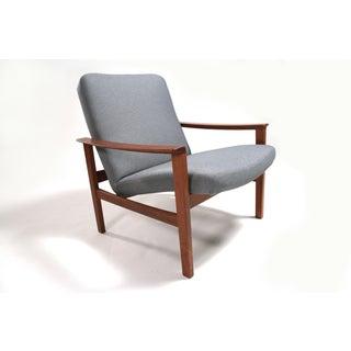 Vintage 1950s Mid-Century Swedish Modern Marharam Upholstered Teak Lounge Chair Preview