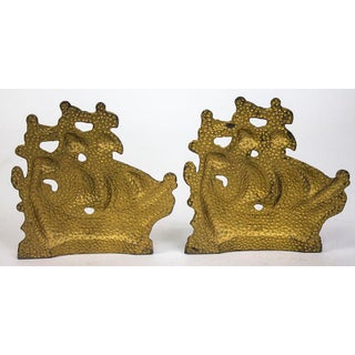 Vintage Ship Bookends - Pair Preview
