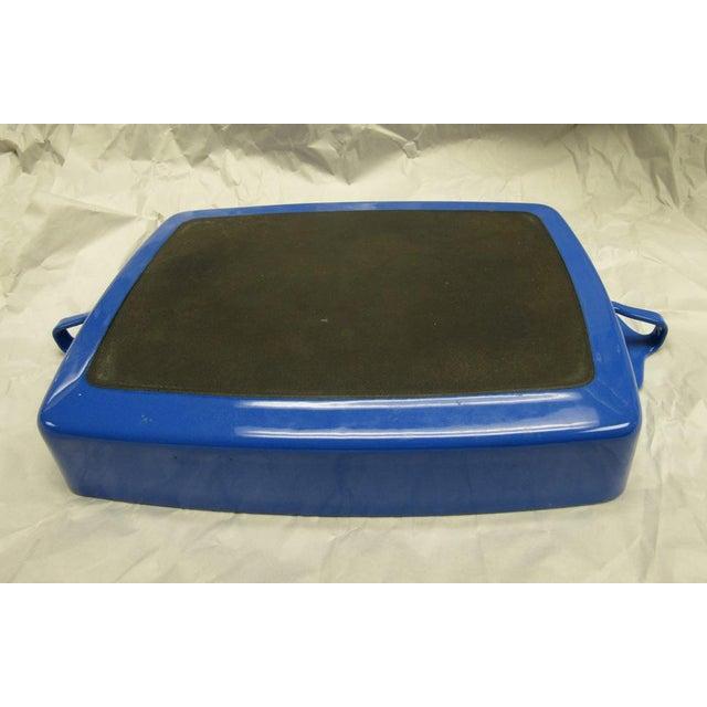 Dansk 1970s Dansk Kobenstyle Blue Enamel Lasagna Baking Casserole Dish For Sale - Image 4 of 6