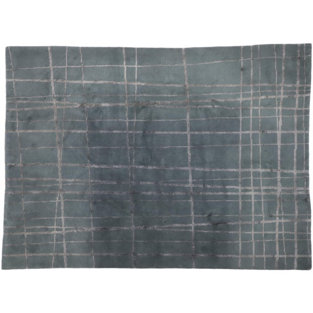 Vintage Tibetan Abstract Expressionism Rug - 7'10 X 10'9 For Sale - Image 9 of 10