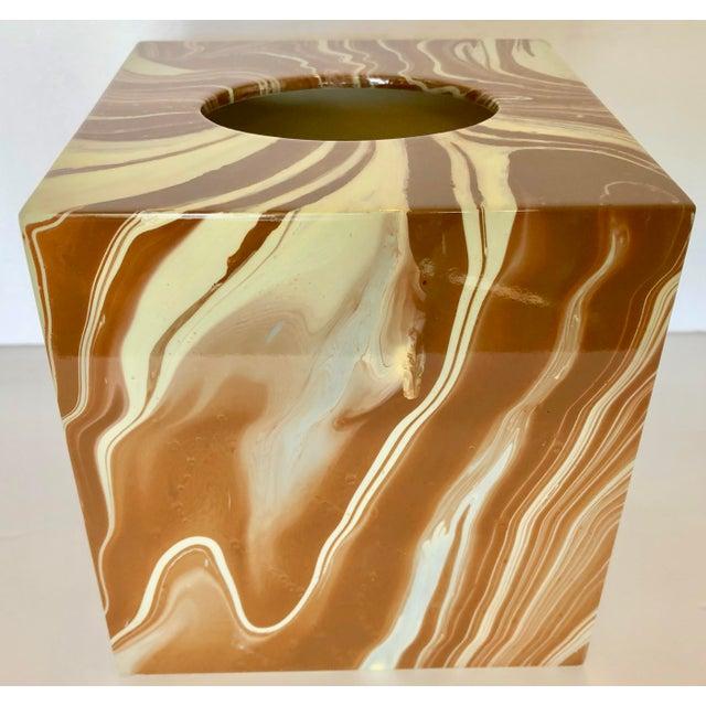 Oggetti Tissue Box and Soap Dish For Sale In Miami - Image 6 of 10