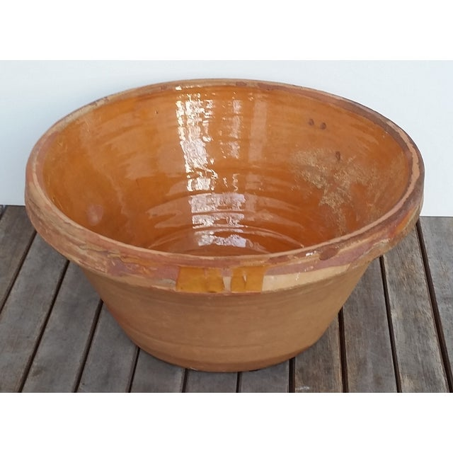 French Antique Glazed Terrecotta Tian Bowl - Image 2 of 9