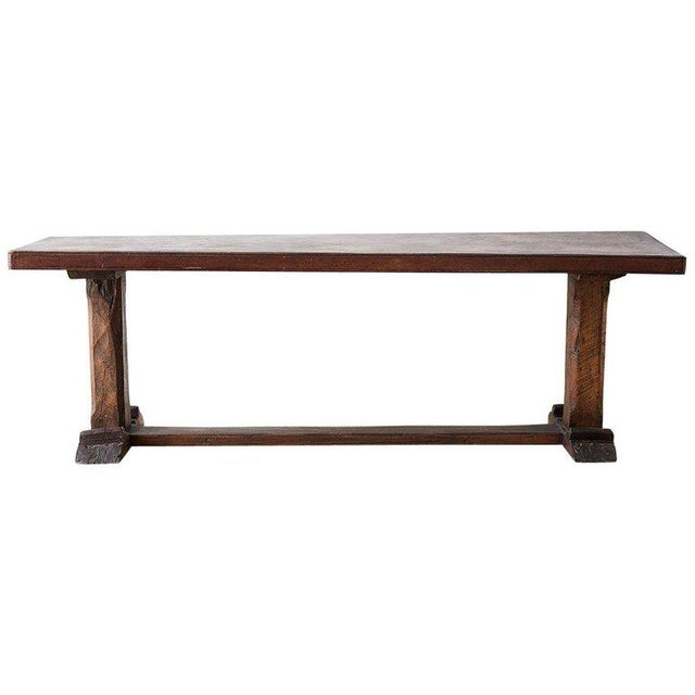 Rustic Italian Baroque Refectory Trestle Table For Sale - Image 13 of 13