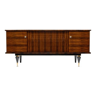 Mid-Century French Macassar Buffet For Sale