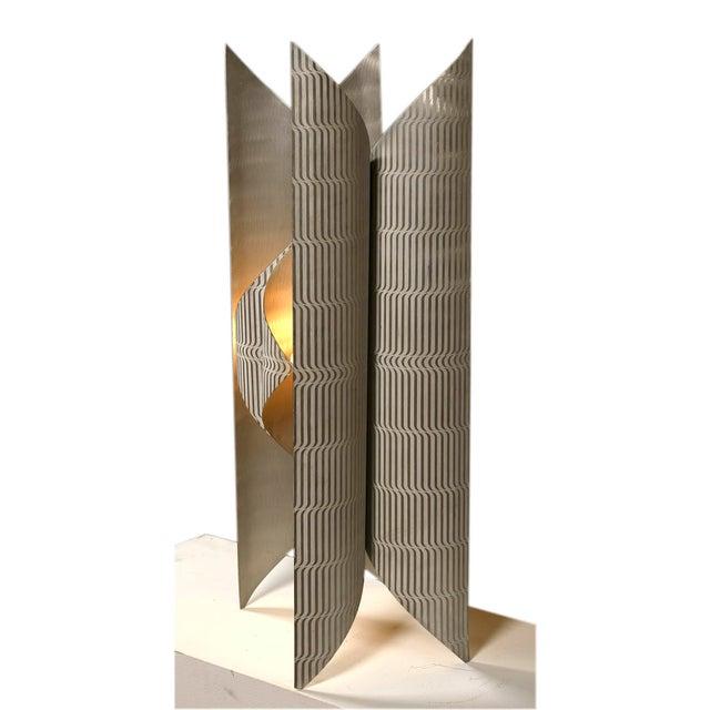 Lorenzo Burchiellaro printed aluminium floor lamp