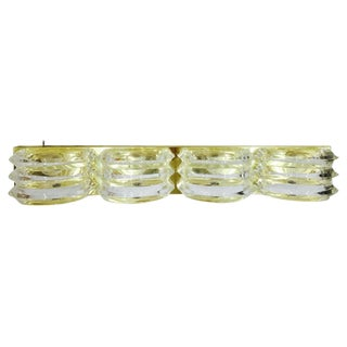 Brass & Acrylic Deco Style Wall Sconce For Sale