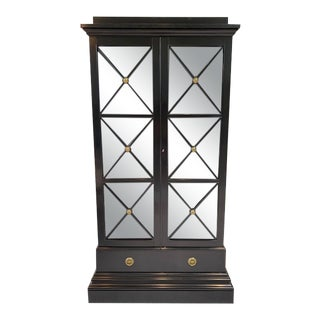 Modern History Black Illuminated Display Cabinet For Sale