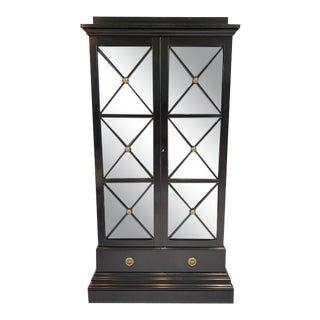Modern History Black Illuminated Display Cabinet For Sale