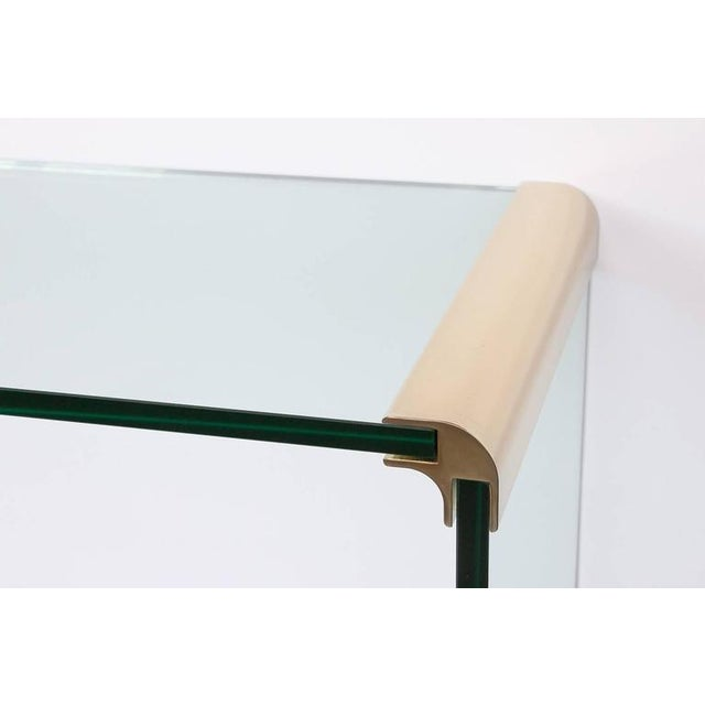 Hollywood Regency Leon Rosen for Pace Waterfall Console Table-Pair Available For Sale - Image 3 of 6