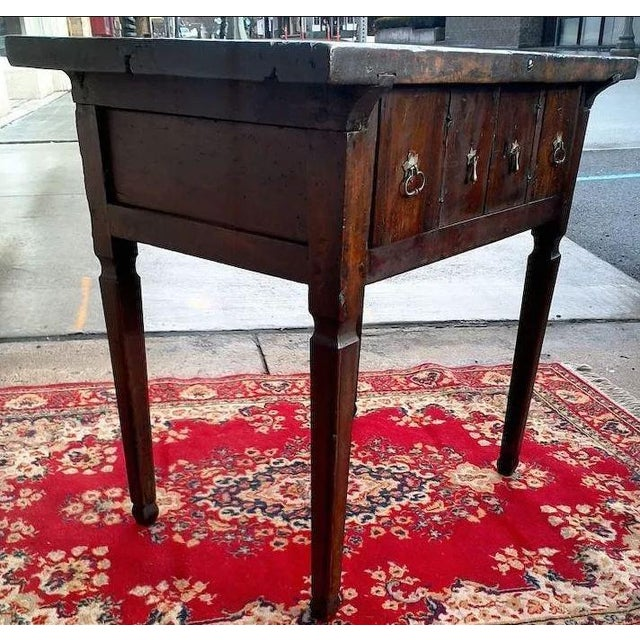 17th Century Spanish Walnut Campaign or Tavern Table For Sale - Image 4 of 11
