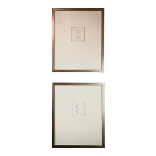 Framed Intaglio Pair For Sale