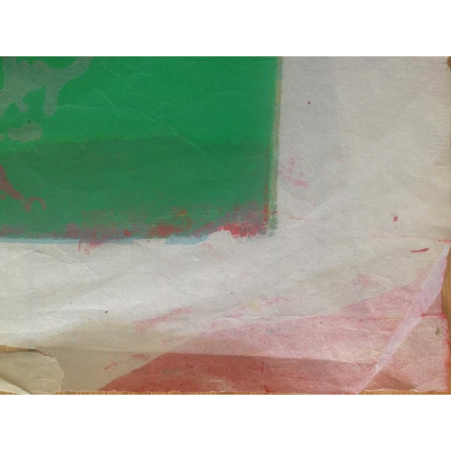1960s Mid Century Abstract Silkscreen Bay Area Female Artist For Sale - Image 5 of 8