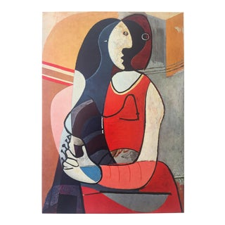"""Pablo Picasso Rare Vintage 1955 Authentic Modernist Lithograph Print """" Seated Woman """" 1927 For Sale"""