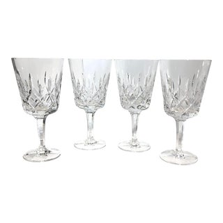 Gorham King Edward Hand Blown Water Goblets, Germany - Set of 4 For Sale