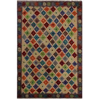 "Balouchi Alexia Ivory/Gray Wool Rug - 3'1"" X 4'9"" For Sale"
