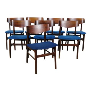 Set of 8 Mid-Century Modern Rosewood Dining Chairs For Sale