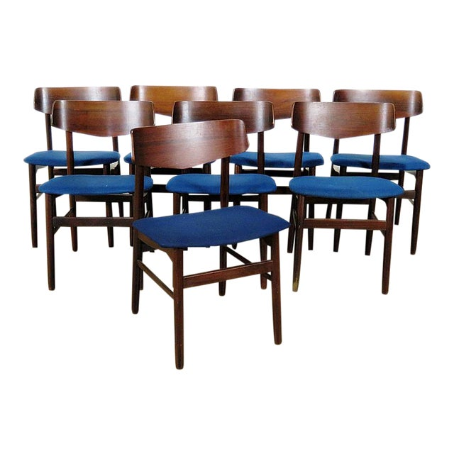 Set Of 8 Mid Century Modern Rosewood Dining Chairs