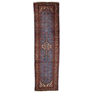 1920s, Handmade Antique Persian Heriz Runner 2.9' X 10.3' For Sale