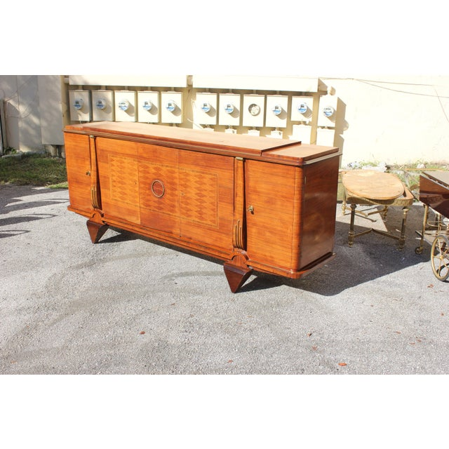 Master Piece French Art Deco Sideboard / Buffet Rosewood By Jules Leleu Circa 1940s For Sale - Image 9 of 11