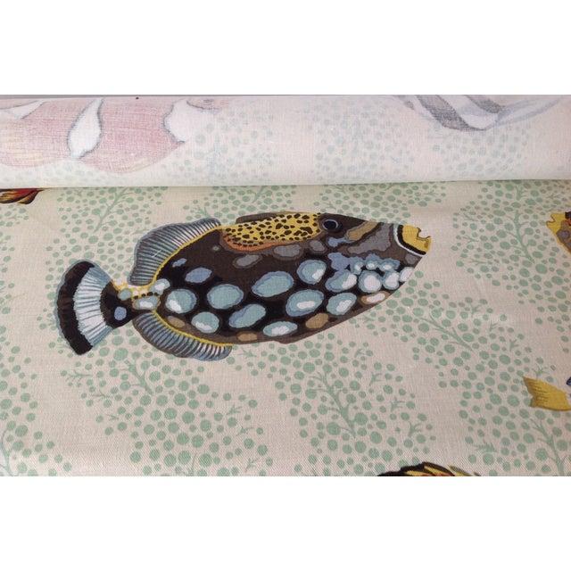"Grey Watkins ""Barbuda"" Fish Linen Textile - 4 1/3 Yds. For Sale - Image 9 of 12"