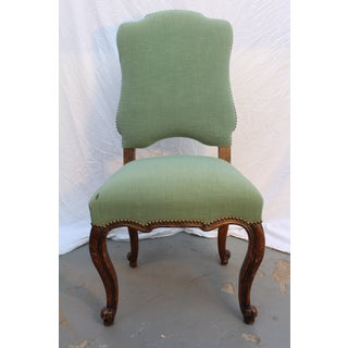 18th C. Louis XV French Provincial Green Upholstered Side Chair Preview