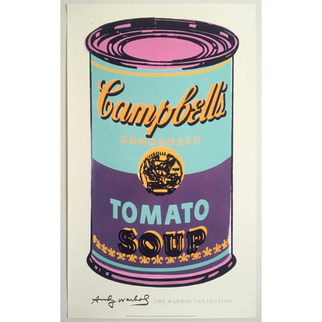 "Andy Warhol Foundation Lithograph Print Pop Art Poster "" Campbell's Soup Can "" 1965 For Sale - Image 11 of 12"