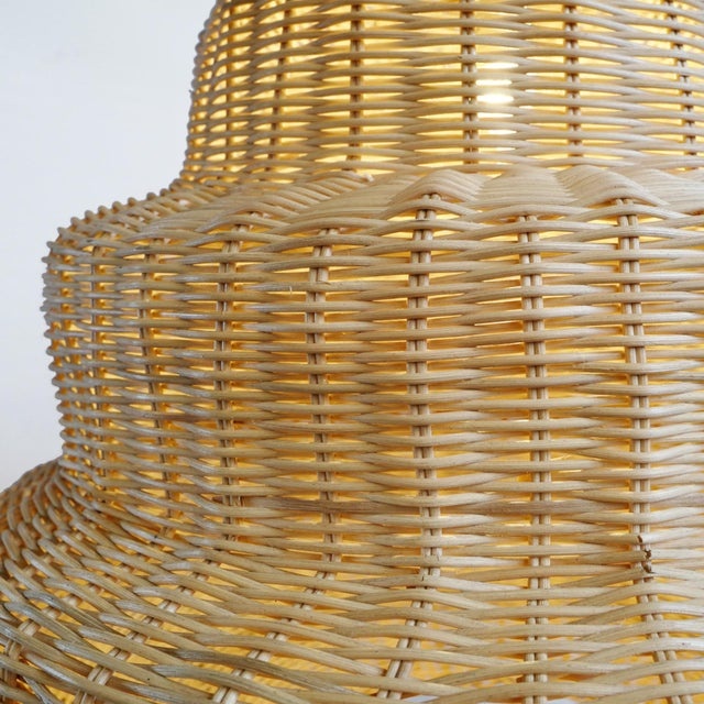 Contemporary Rattan Madras Lantern For Sale - Image 3 of 5