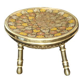 1940s Vintage Moroccan Foot Stool For Sale