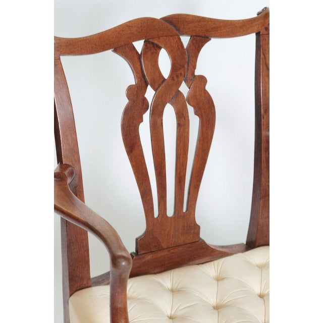 18th Century Chippendale Mahogany Armchair For Sale In Dallas - Image 6 of 12