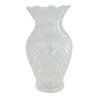1980s Waterford Cut Crystal Vase For Sale