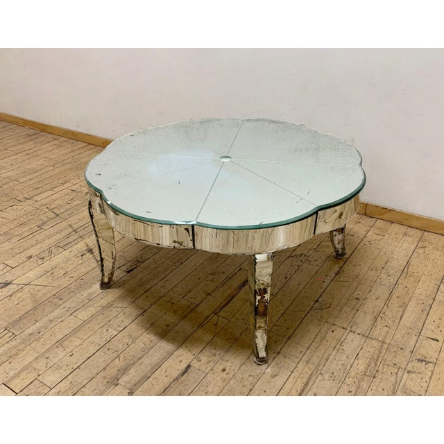Period French or Italian Deco Mirrored Coffee Table For Sale - Image 4 of 7