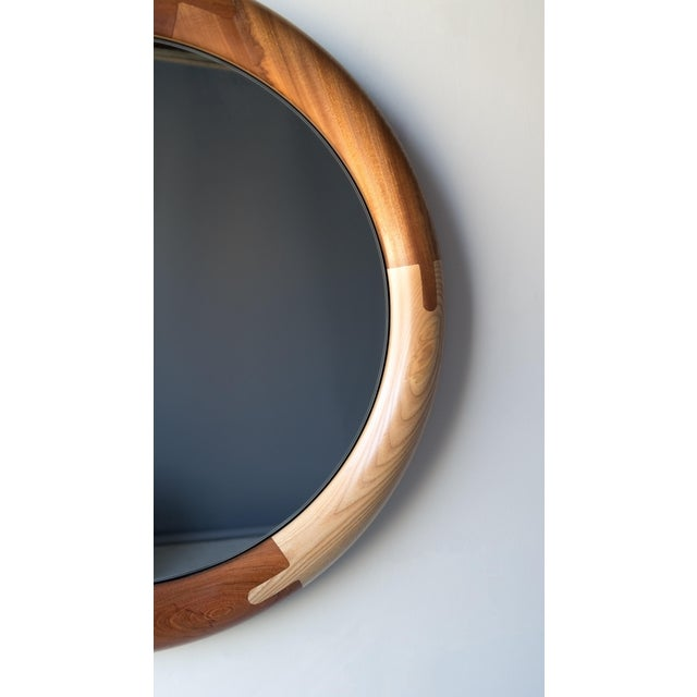 Not Yet Made - Made To Order Halo Round Birnam Wood Studio Mirror For Sale - Image 5 of 10