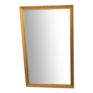 Gold Framed Bevelled Wall Mirror For Sale