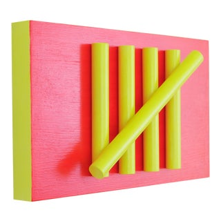 Abstract 'Tally' Relief Wall Sculpture
