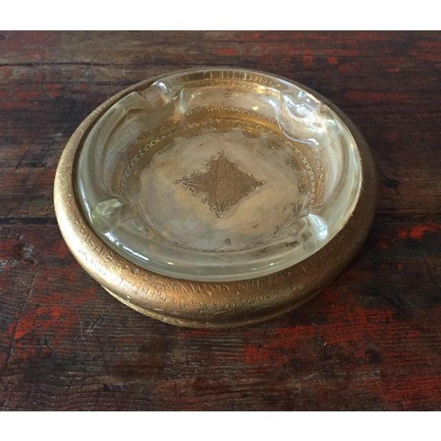 Italian Florentine Wood & Glass Ashtray - Image 2 of 9