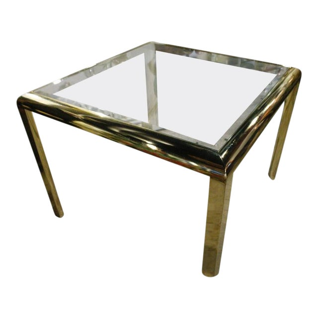 Vintage Brass Dining Table Game Table For Sale