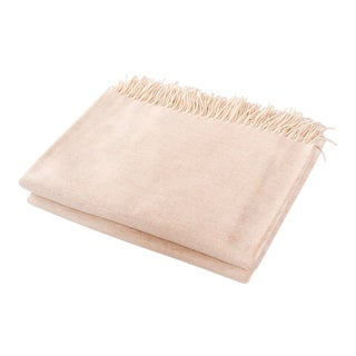 Contemporary Merino Wool Collection Oatmeal Throw