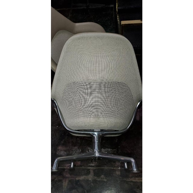 2010s Coalesse for Steelcase Gray Leather Upholstery Lounge Chairs- A Pair For Sale - Image 5 of 13