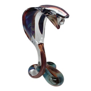 Cobra Murano Glass Sculpture by Dino Rosin For Sale