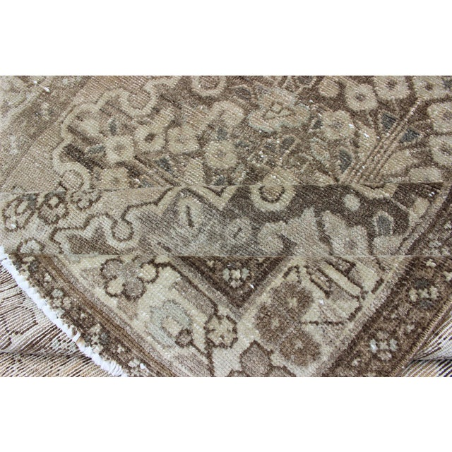 Neutral Tone Vintage Persian Lilihan Rug With Medallion For Sale - Image 12 of 13
