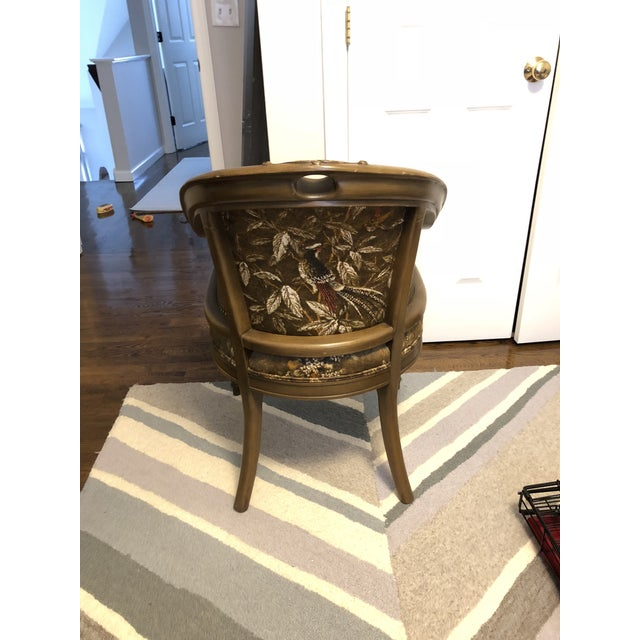 Traditional Antique Accent Chair With Caned Side Panels For Sale - Image 3 of 6