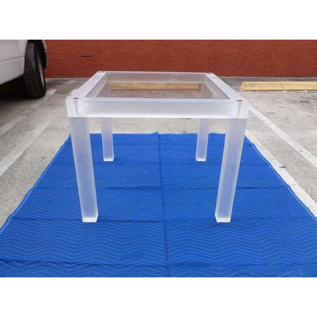 1970s Vintage Space Age Lucite Card Table For Sale - Image 4 of 12