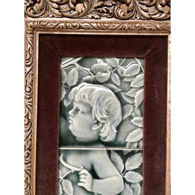 Late 19th Century Framed Tile Set by Isaac Broome - a Pair For Sale - Image 9 of 12